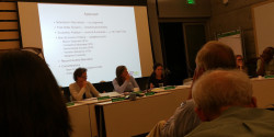 KUSP board meeting; photo, Matthew Lasar