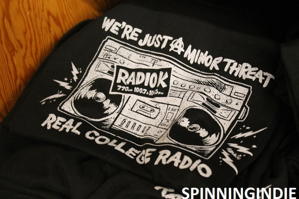 "Radio K, ""we're just a minor threat"" T-shirt"