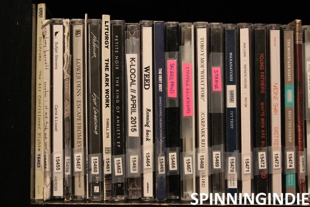 CDs at college radio station Radio K