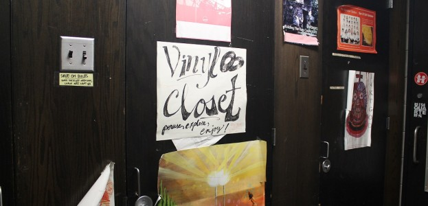 vinyl closet at college radio station Radio K. Photo: J. Waits