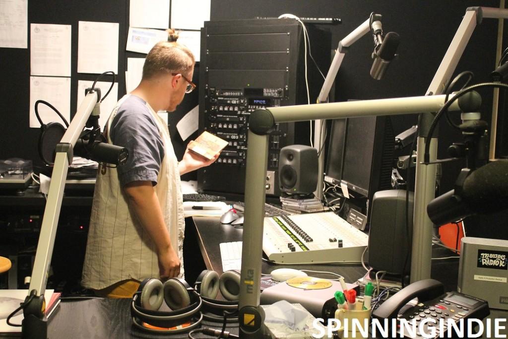 production studio at college radio station Radio K