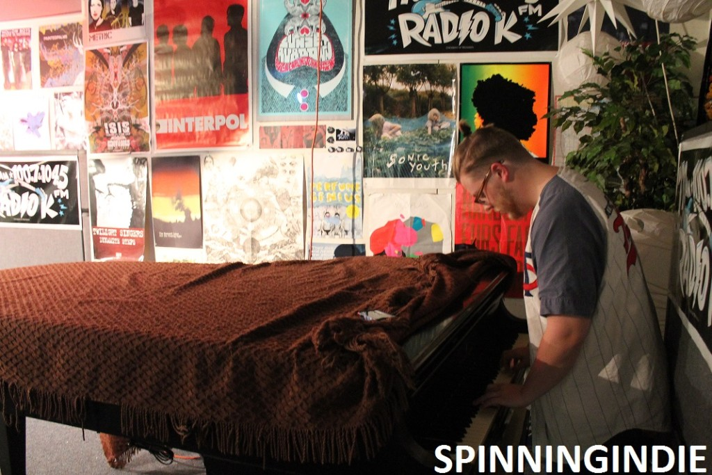 piano in Radio K's Studio K