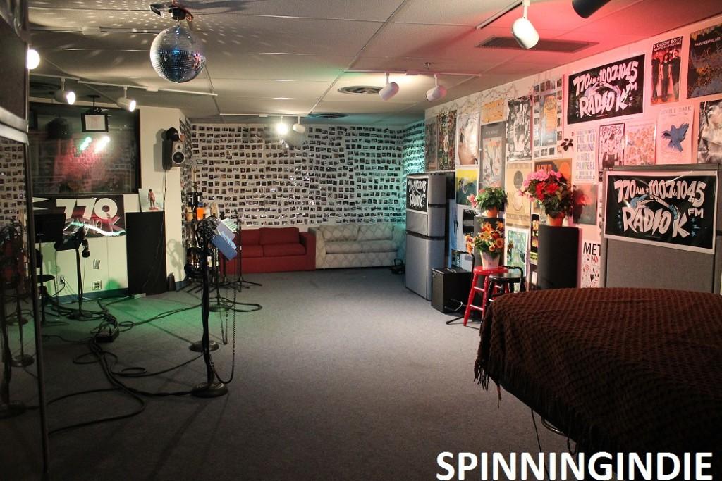 Studio K at college radio station KUOM