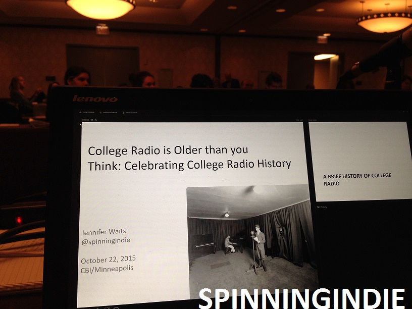 college radio history presentation for CBI
