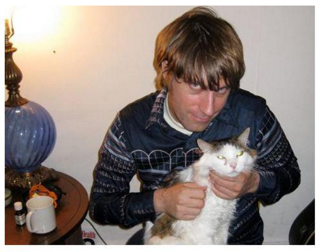 Todd Urick and cat.