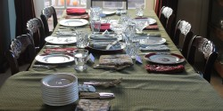 Thanksgiving table. Photo: J. Waits