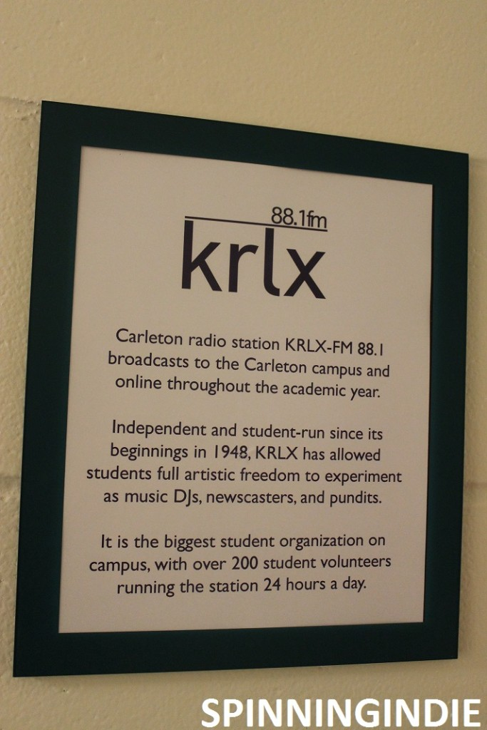 sign outside KRLX describes its past and present