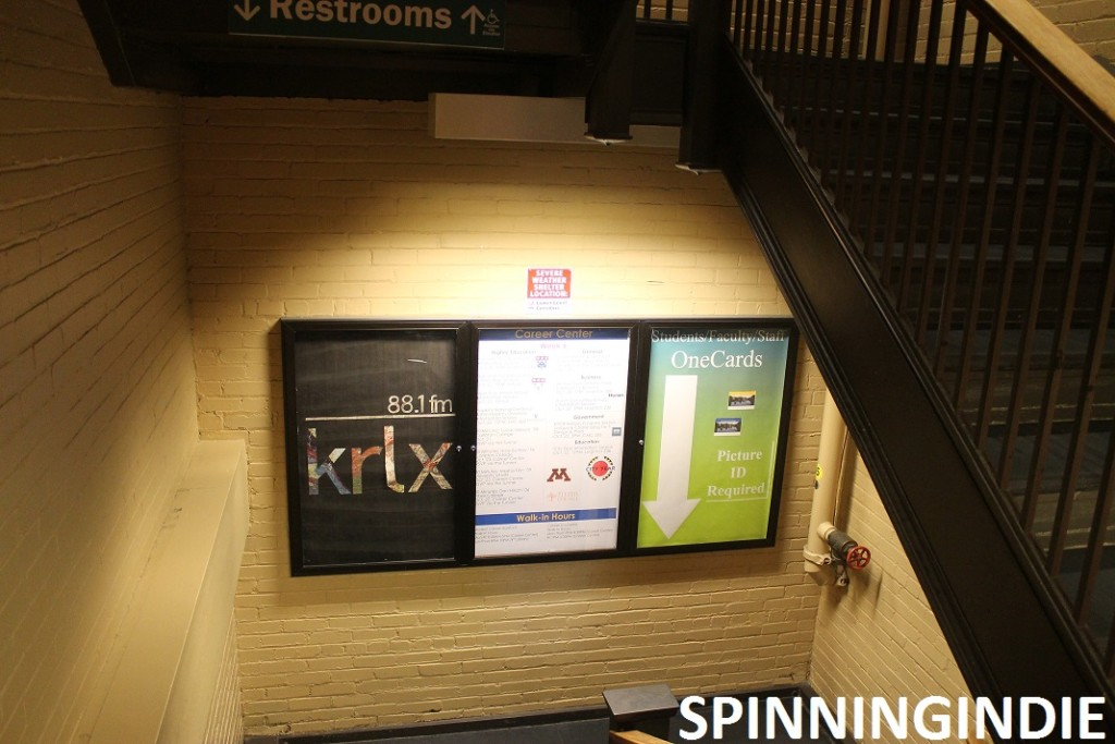 signs leading to KRLX's basement home