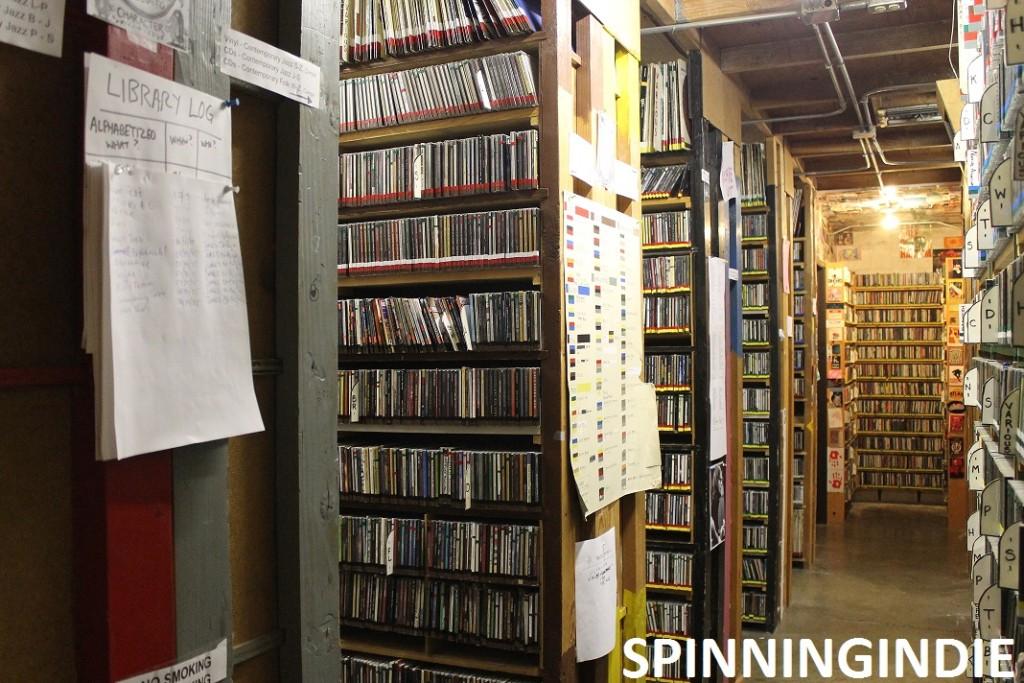 KBOO music library. Photo: J. Waits