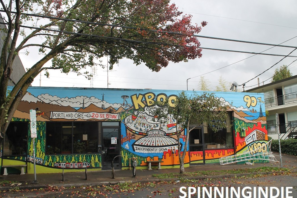 Mural on KBOO building. Photo: J Waits