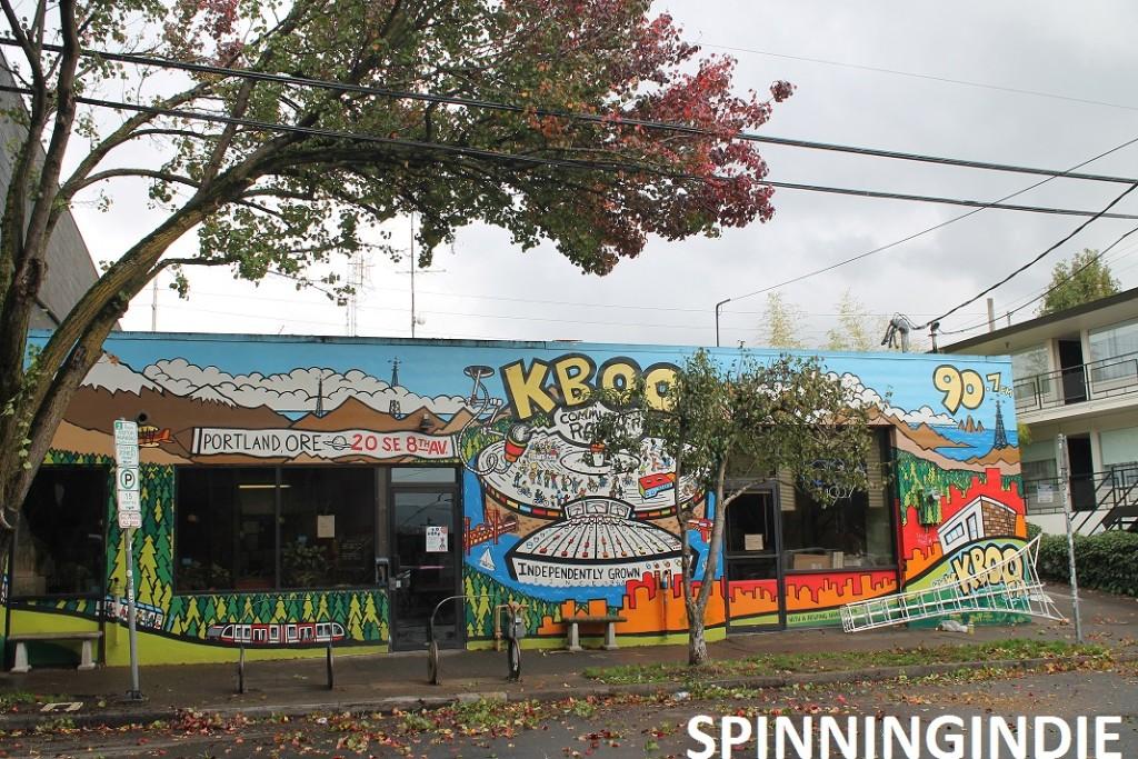 Mural on KBOO building. Photo: J Waits