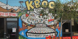 Community radio station KBOO's mural outside its building in Portland, Oregon. Photo: J. Waits