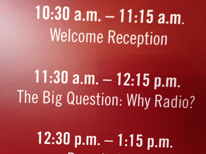 "CMJ College Day on Tour panel description for ""Why Radio?"""