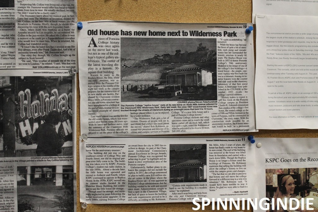 Article posted at KSPC about Replica House. Photo: J. Waits