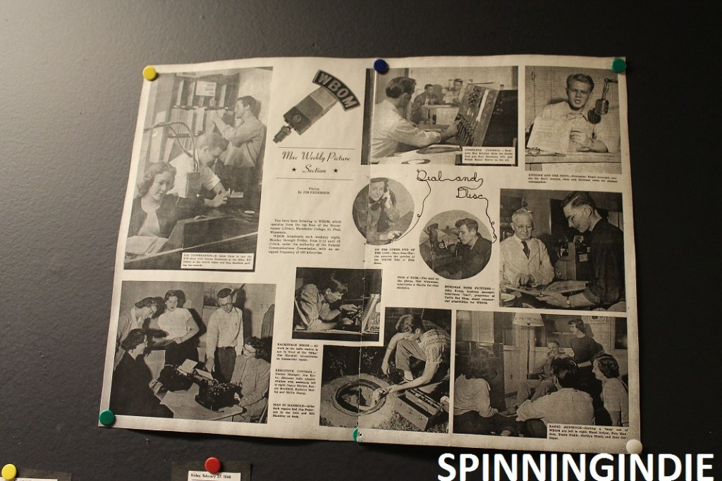Images of WBOM from WMCN History Display. Photo: J. Waits