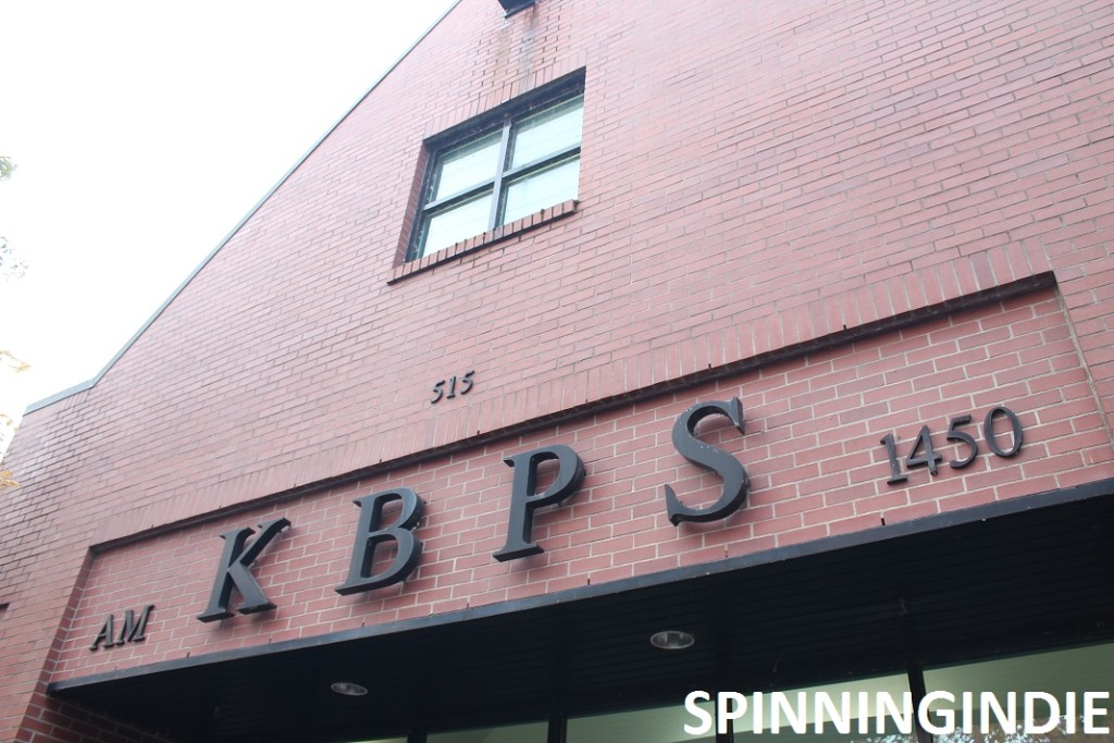 Entrance to high school radio station KBPS-AM. Photo: J. Waits