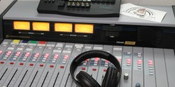 college radio station WBCR at Brooklyn College. Photo: J. Waits