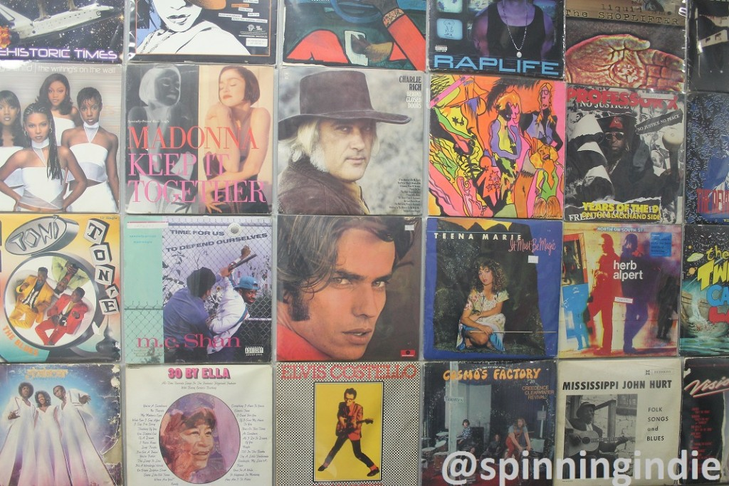 Albums at Hunter College radio station. Photo: J. Waits