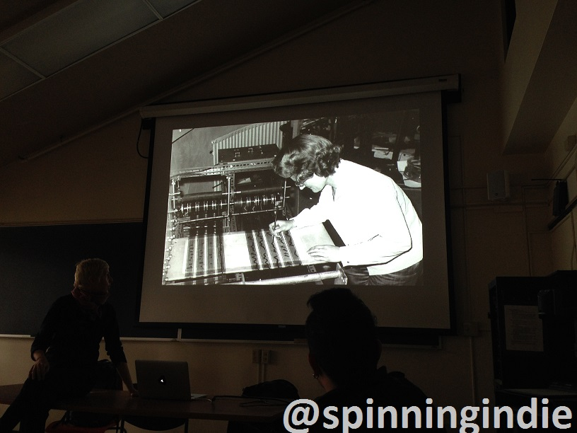 Sharing history of radio art. Photo: J. Waits