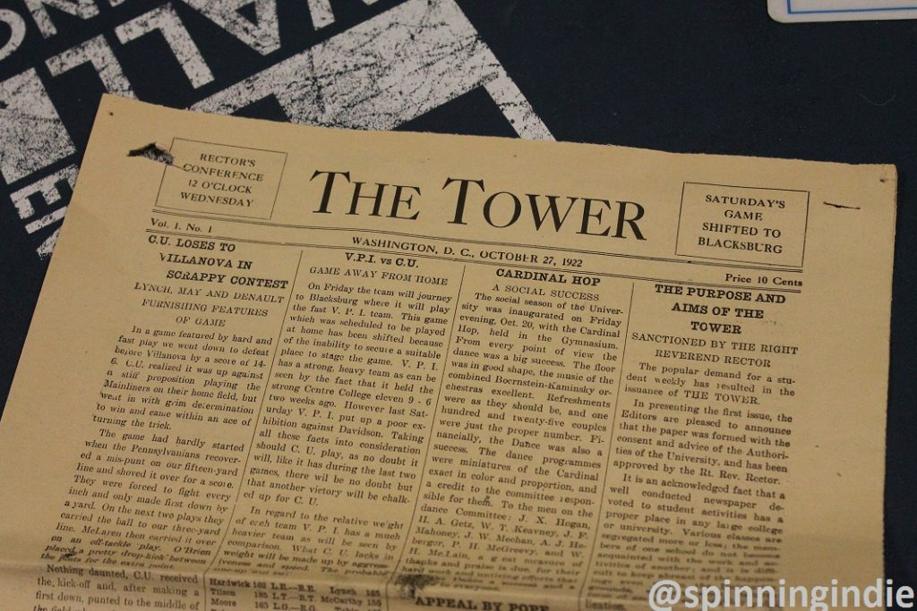 1920s student newspaper from Catholic University. Photo: J. Waits