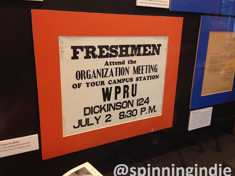 From the WPRB history exhibit: Recruitment poster for WPRU. Photo: J. Waits
