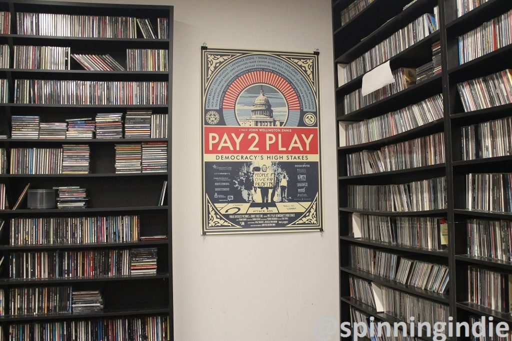 CD library at Brooklyn College radio station WBCR. Photo: J. Waits