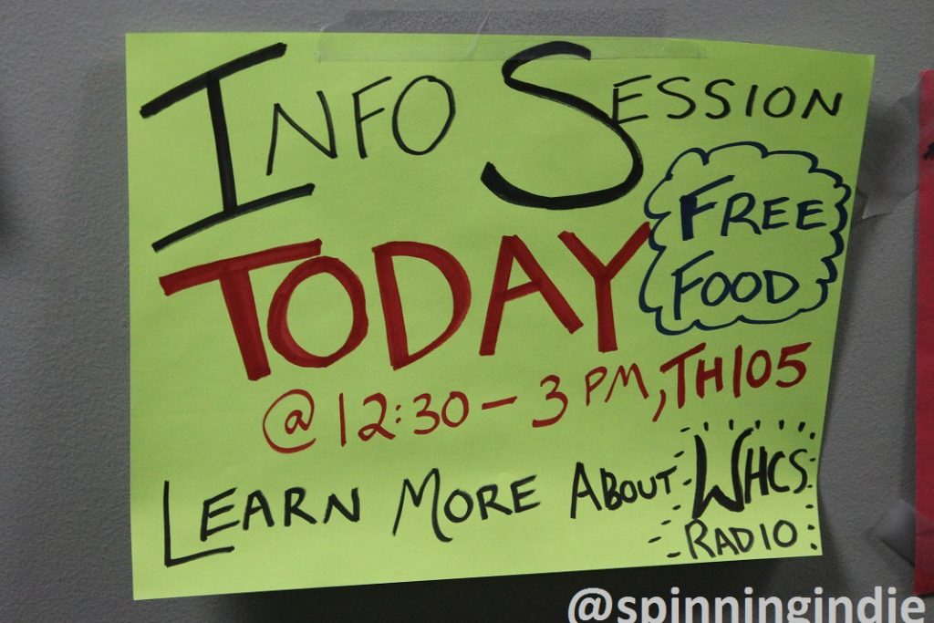 Info Session poster at WHCS. Photo: J. Waits