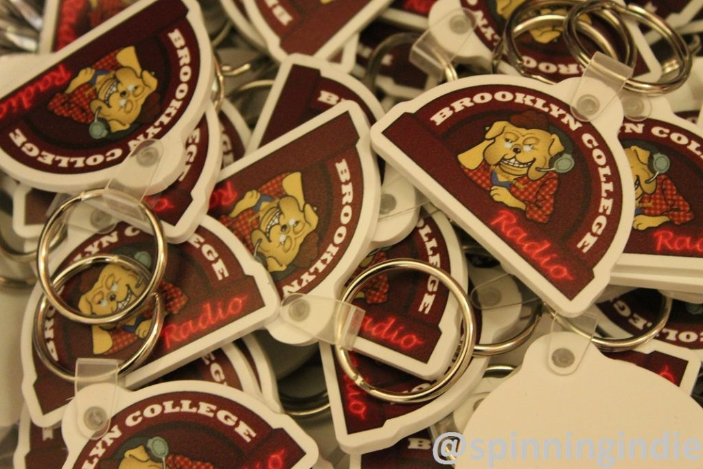 Brooklyn College Radio key chains. Photo: J. Waits