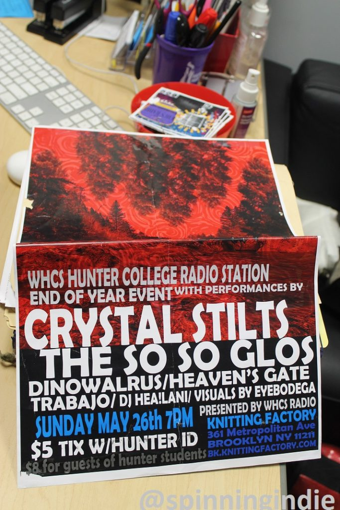 Poster for Crystal Stilts co-presents. Photo: J. Waits