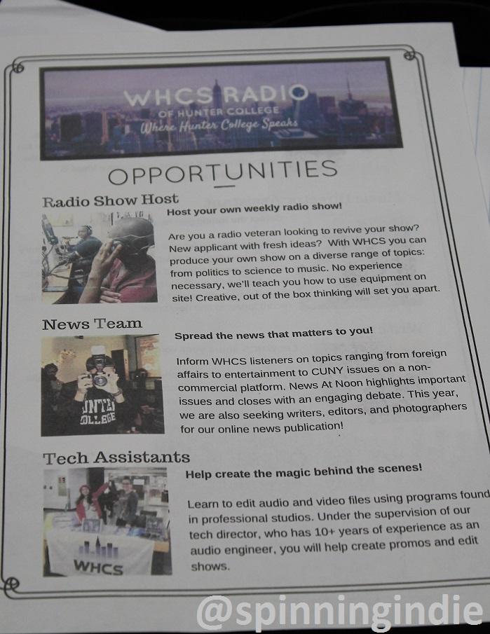 Recruitment flyer for WHCS. Photo: J. Waits