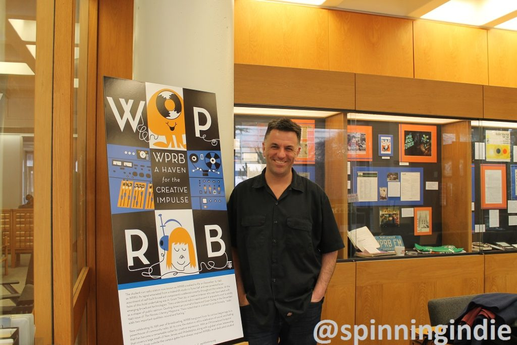 "Michael Lupica showing off the ""WPRB: A Haven for the Creative Impulse"" exhibit. Photo: J. Waits"