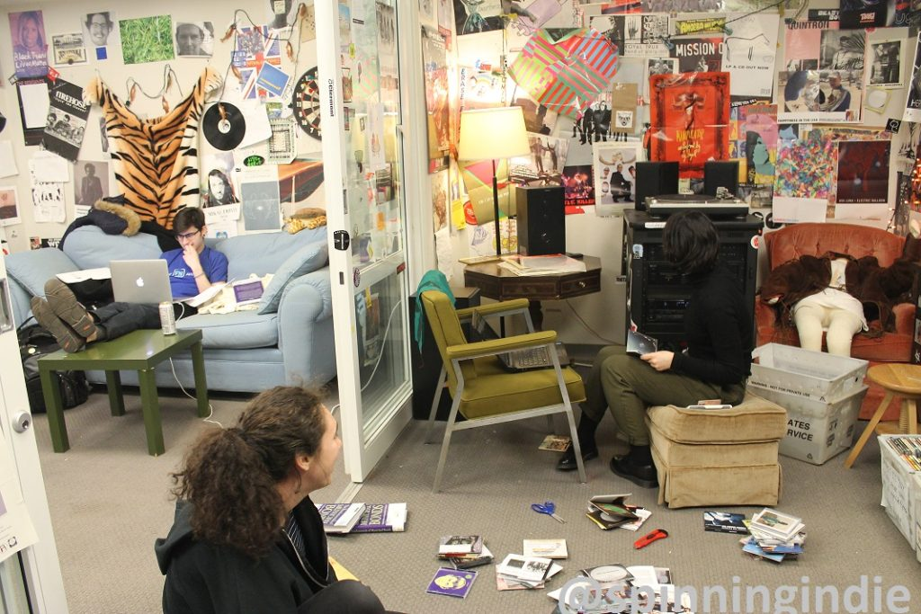 Music office at WPRB. Photo: J. Waits