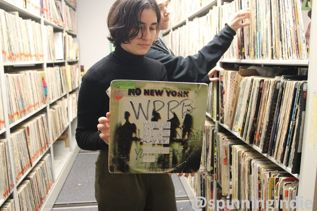 Music Director Aida Garrido in the WPRB vinyl library. Photo: J. Waits
