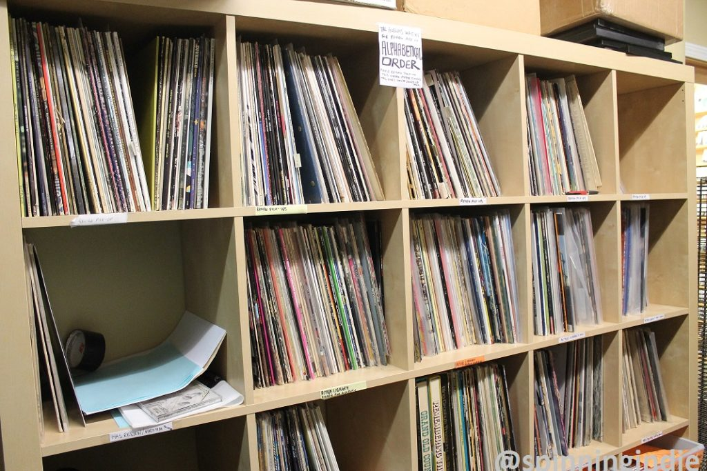 Vinyl LPs at CHIRP. Photo: J. Waits