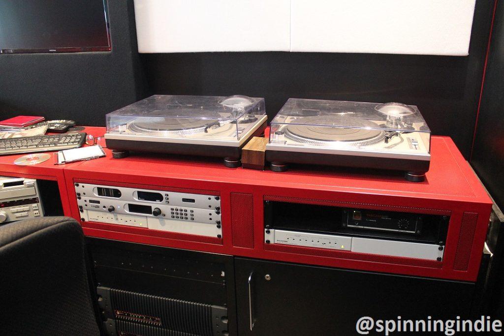 Turntables in WERA-LP studio. Photo: J. Waits