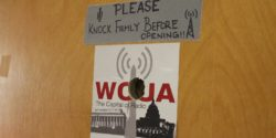 Entrance to college radio station WCUA at Catholic University. Photo: J. Waits