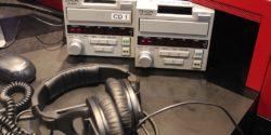 CD players and headphones in WERA-LP studio. Photo: J. Waits
