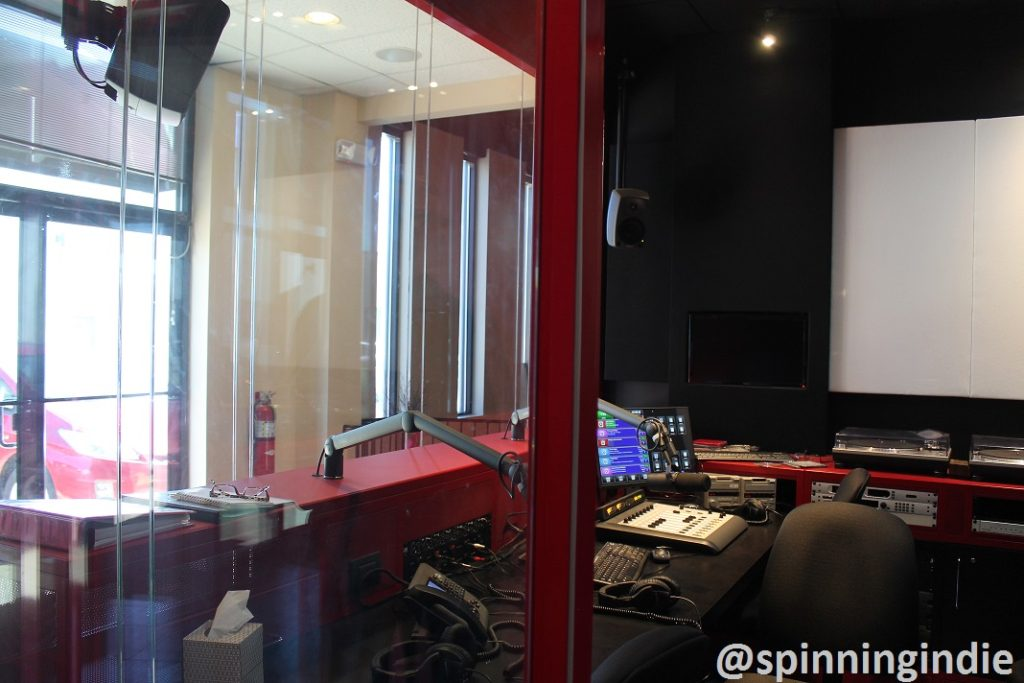 View of the WERA-LP studio. Photo: J. Waits
