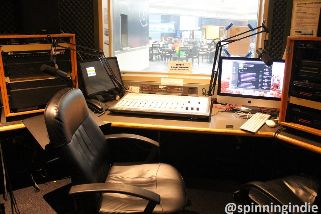 Studio at college radio station WGTB. Photo: J. Waits