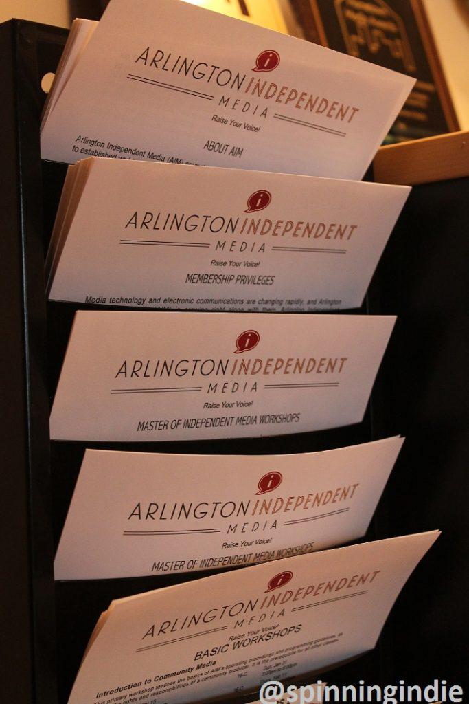 Informational flyers at Arlington Independent Media. Photo: J. Waits