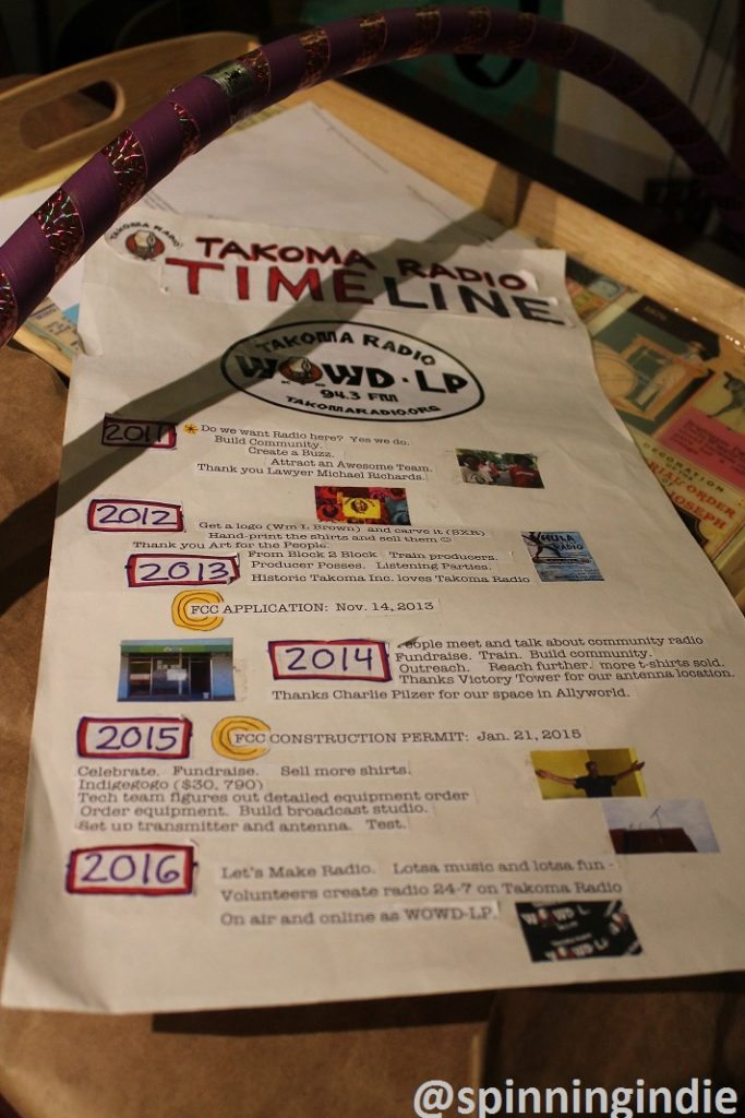 Takoma Radio timeline. Photo: J. Waits