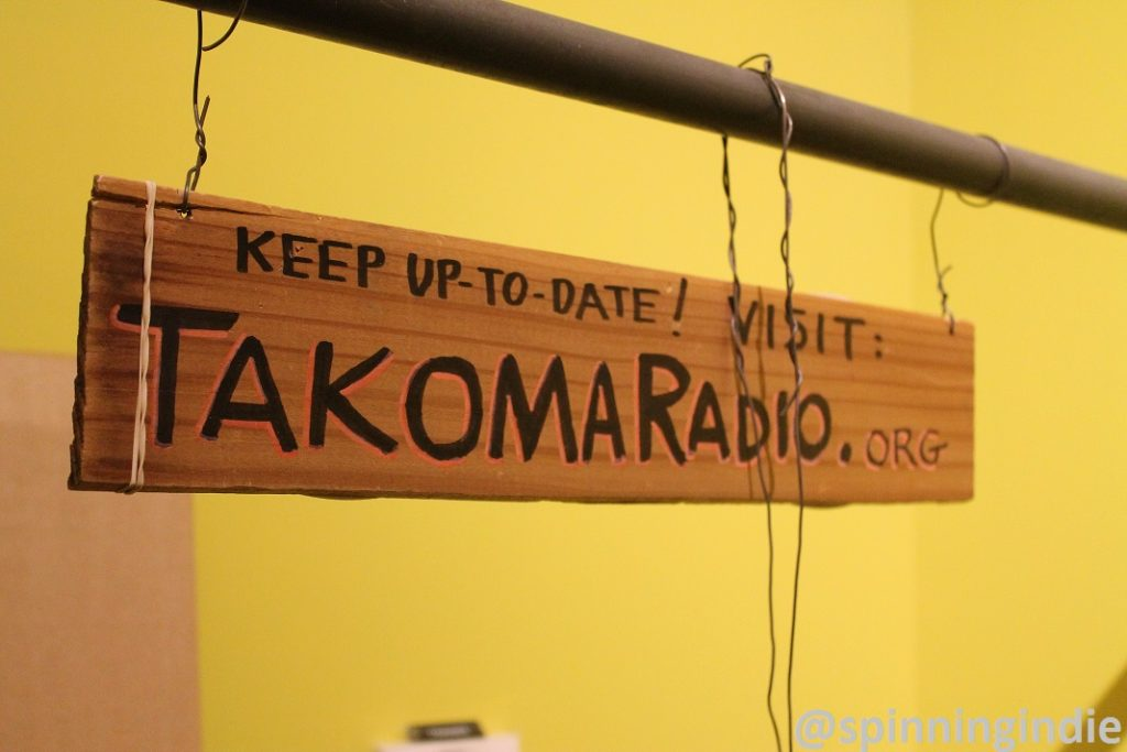 Takoma Radio sign at its studio in February 2016. Photo: J. Waits