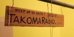 LPFM Takoma Radio sign at its studio in February 2016. Photo: J. Waits