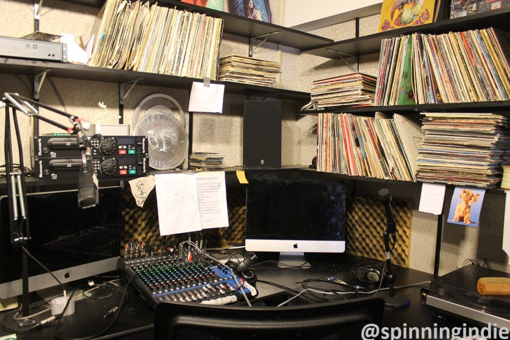 Studio at college radio station The SOCC. Photo: J. Waits