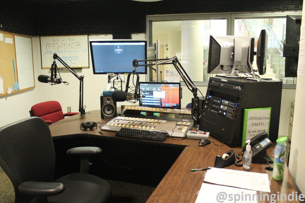 College radio station KCSU's on-air studio. Photo: J. Waits
