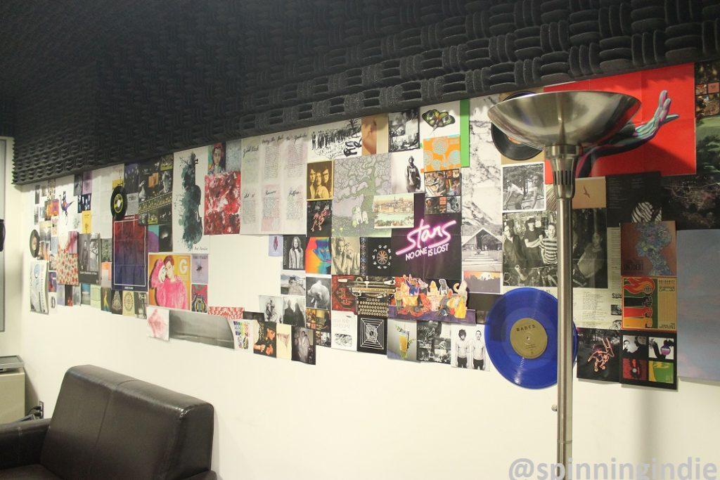 Wall of KCSU studio. Photo: J. Waits