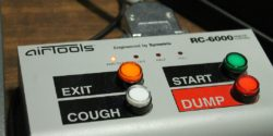 Dump button at college radio station KCSU. Photo: J. Waits