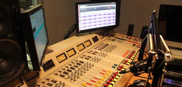 college radio station Met Radio's studio. Photo: J. Waits