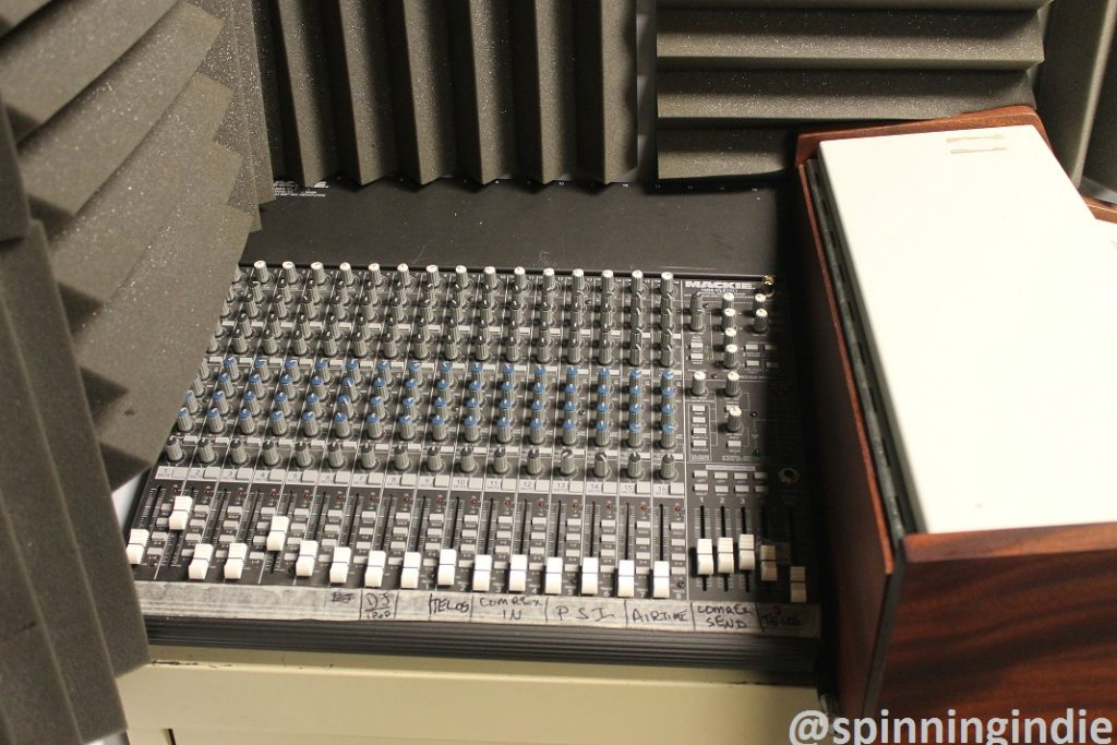 Mixing board at Met Radio. Photo: J. Waits