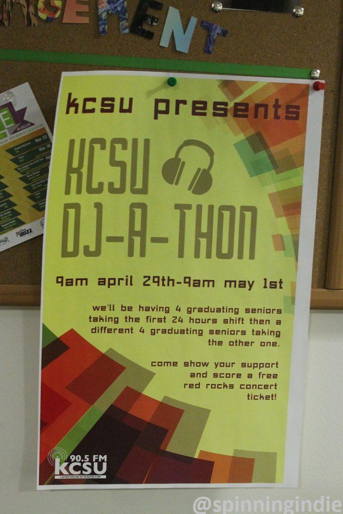 KCSU DJ-a-thon poster. Photo: J. Waits